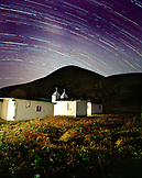 MEXICO, Baja, church and stars at night, San Benitos Islands