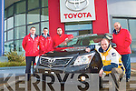 NEW RANGE: Member's of Kelliher Toyota sales team launching the new range of Toyota Avensis in Rathass on Monday l-r: Markus O'Shea (Sales & Finance), Colm Keane (Sales), Jerry O'Sullivan (Sales), Tom O'Connor (Sales Manager) and Tim Kelliher (Proprietor)..