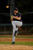 AZL Indians Blue relief pitcher Eric Mock (52) during an Arizona League game against the AZL White Sox on July 2, 2019 at Camelback Ranch in Glendale, Arizona. The AZL Indians Blue defeated the AZL White Sox 10-8. (Zachary Lucy/Four Seam Images)