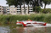 Nederland -  Purmerend - 23 juni  2018.  Solar Sport One race competitie. Wereldkampioenschap Solar Boat racen. Boten die varen op zonne-energie.    Foto Berlinda van Dam Hollandse Hioogte