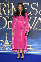 LONDON, UK. November 13, 2018: Jessica Williams at the &quot;Fantastic Beasts: The Crimes of Grindelwald&quot; premiere, Leicester Square, London.<br /> Picture: Steve Vas/Featureflash