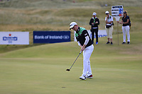 Gavin Moynihan (IRL) sinks his putt on the 15th green during Friday's Round 2 of the 2018 Dubai Duty Free Irish Open, held at Ballyliffin Golf Club, Ireland. 6th July 2018.<br /> Picture: Eoin Clarke | Golffile<br /> <br /> <br /> All photos usage must carry mandatory copyright credit (&copy; Golffile | Eoin Clarke)