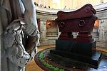 The tomb of Napoleon Bonaparte under the dome church. Hotel les Invalides. Paris. City of Paris. France