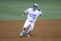 Aaron Sabato (19) of the North Carolina Tar Heels in action against the North Carolina State Wolfpack at Boshamer Stadium on May 16, 2019 in Chapel Hill, North Carolina. (Andy Mead/Four Seam Images)