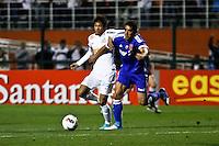 ATENÇÃO EDITOR: FOTO EMBARGADA PARA VEÍCULOS INTERNACIONAIS SÃO PAULO,SP,26 SETEMBRO 2012 - FINAL RECOPA SUDAMERICANA - SANTOS (bra) x UNIVERSIDAD DE CHILE (chi) - Neymar jogador do Santos  durante partida Santos x Universidad de Chile  válido pela final da Recopa Sudameircana no Estádio Paulo Machado de Carvalho (Pacaembu), na região oeste da capital paulista na noite desta quarta feira (26).(FOTO: ALE VIANNA -BRAZIL PHOTO PRESS).