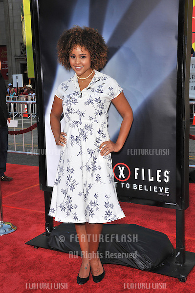 "Hayley Marie Norman at the world premiere of ""The X-Files: I Want To Believe"" at Grauman's Chinese Theatre, Hollywood..July 23, 2008  Los Angeles, CA.Picture: Paul Smith / Featureflash"