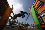 GUADALAJARA, MEXICO - OCTOBER 27:  Martin Rodriguez of Uruguay competes during the Equestrian Show Jumping Competition on Day Thirteen of the XVI Pan American Games on October 27, 2011 in Guadalajara, Mexico.  (Photo by Donald Miralle for Mexsport) *** Local Caption ***
