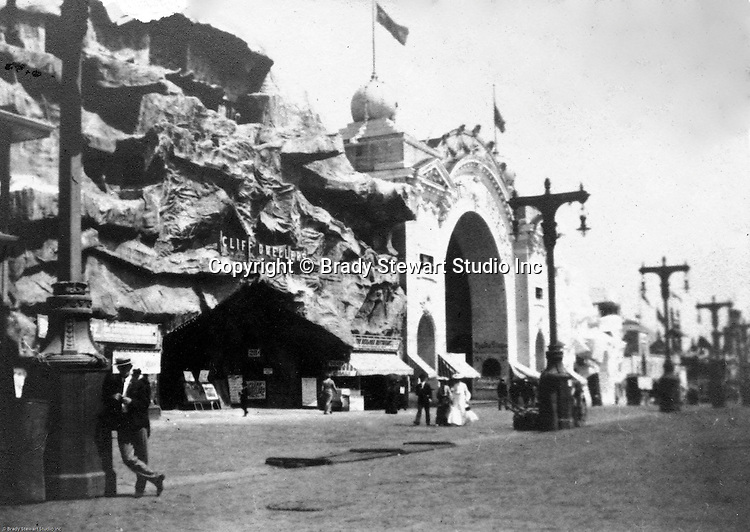 St Louis MO:  View of the Cliff Dweller's exhibit on the Pike at the Louisiana Purchase Exposition