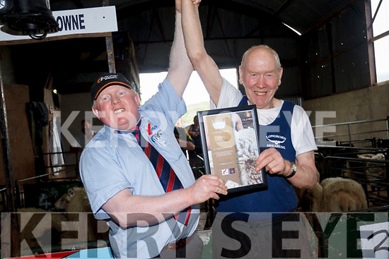 Dan Kelleher who was presented with the a Masters Blade Shearing Award at his home shearing on Sunday.