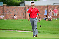 Jon Rahm (ESP) reacts to barely missing is birdie putt on 16 during round 4 of the Dean &amp; Deluca Invitational, at The Colonial, Ft. Worth, Texas, USA. 5/28/2017.<br /> Picture: Golffile | Ken Murray<br /> <br /> <br /> All photo usage must carry mandatory copyright credit (&copy; Golffile | Ken Murray)