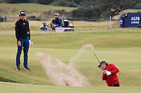 Selwyn Nathan (AM) on the 14th green during Round 4 of the 2015 Alfred Dunhill Links Championship at the Old Course in St. Andrews in Scotland on 4/10/15.<br /> Picture: Thos Caffrey | Golffile