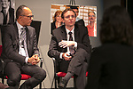 "Ben Welsh, a DePaul alumnus and data journalist with the Los Angeles Times, talks to College of Communication students during an event hosted by DePaul's Center for Journalism Integrity and Excellence, Thursday, April 20, 2017. The center honored Welsh and Lester Holt, anchor of ""NBC Nightly News,"" for work that embodies the highest principles of journalism, including truth, accuracy, fairness and context. (DePaul University/Jeff Carrion)"