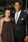 Sharon Aboussleman and Errol McLaughlin at the Champagne & Ribs event at the Contemporary Arts Museum Thursday May 13,2010.  (Dave Rossman Photo)