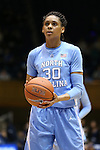 24 January 2016: North Carolina's Hillary Summers. The Duke University Blue Devils hosted the University of North Carolina Tar Heels at Cameron Indoor Stadium in Durham, North Carolina in a 2015-16 NCAA Division I Women's Basketball game. Duke won the game 71-55.