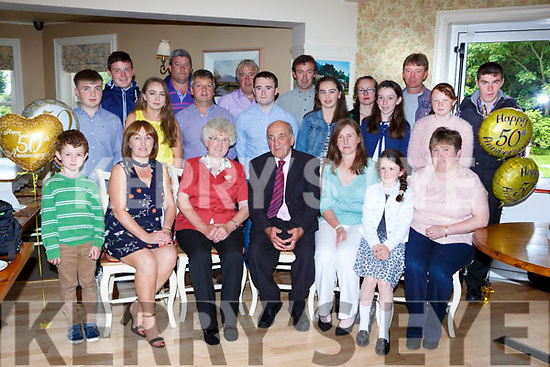 Jimmy and Bridie Breen celebrated their 50th wedding anniversary with their family and friends in the Kate Kearneys Cottage on Sunday