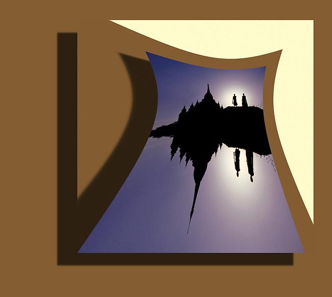 burma bagan, Gawdawpalin Temple 3605