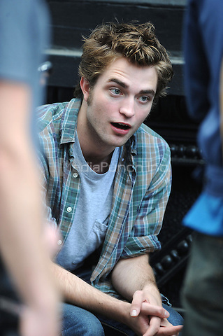 Robert Pattinson on the set of his latest movie 'Remember Me' in New York City. June 15, 2009. Credit: Dennis Van Tine/MediaPunch