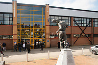 A general view of Vale Park, home of Port Vale FC showing the Roy Sproson statue<br /> <br /> Photographer Andrew Vaughan/CameraSport<br /> <br /> The EFL Sky Bet League Two - Port Vale v Lincoln City - Saturday 14th April 2018 - Vale Park - Burslem<br /> <br /> World Copyright &copy; 2018 CameraSport. All rights reserved. 43 Linden Ave. Countesthorpe. Leicester. England. LE8 5PG - Tel: +44 (0) 116 277 4147 - admin@camerasport.com - www.camerasport.com