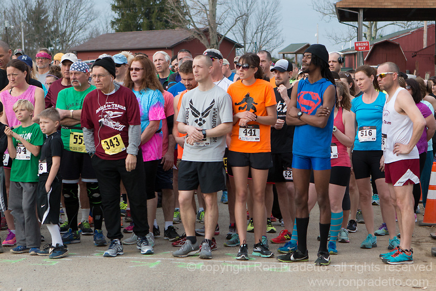 The 2017 Barnesville Park Rotary Lake 5K walk/run, Barnesville, Ohio March 25, 2017.