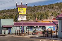 The Grand Motel on Route 66 in Williams Arizona.