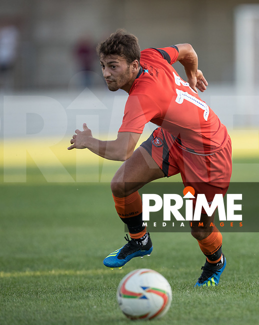Scott Kashket of Wycombe Wanderers during the 2018/19 Pre Season Friendly match between Chesham United and Wycombe Wanderers at the Meadow , Chesham, England on 24 July 2018. Photo by Andy Rowland.