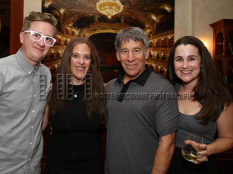 Kyle Jarrow, Kara Uterberg, Stephen Schwartz and Lauren Worsham attends the DGF Salon with Kyle Jarrow on November  1, 2018 at The Uterbetg Residence in New York City.