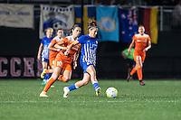 Allston, MA - Wednesday Aug. 31, 2016: Carli Lloyd, Angela Salem during a regular season National Women's Soccer League (NWSL) match between the Boston Breakers and the Houston Dash at Jordan Field.