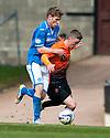 St Johnstone's David Wotherspoon plus back Dundee Utd's Ryan Gauld.