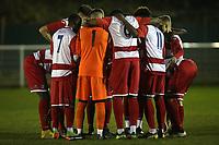 Ilford players huddle during Redbridge vs Ilford, Essex Senior League Football at Oakside Stadium on 10th January 2020
