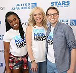 Kristolyn Lloyd, Rachel Bay Jones and Will Roland backstage at United Airlines Presents #StarsInTheAlley free outdoor concert in Shubert Alley on 6/2/2017 in New York City.