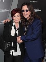 HOLLYWOOD, CA - AUGUST 01: Sharon Osbourne and Ozzy Osbourne at the premiere of Columbia Pictures' 'Total Recall' held at Grauman's Chinese Theatre on August 1, 2012 in Hollywood, California Credit: mpi21/MediaPunch Inc. /NortePhoto.com<br />