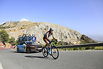 Ben Gastauer (LUX) AG2R La Mondiale on the slopes of Sierra de la Alfaguara near the finish of Stage 4 of the La Vuelta 2018, running 162km from Velez-Malaga to Alfacar, Sierra de la Alfaguara, Andalucia, Spain. 28th August 2018.<br /> Picture: Eoin Clarke   Cyclefile<br /> <br /> <br /> All photos usage must carry mandatory copyright credit (&copy; Cyclefile   Eoin Clarke)