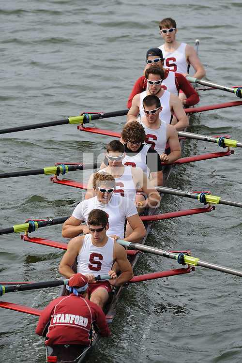 29 March 2008: The men's second varsity eight team competes against Cornell during the Pac-10 Challenge in Redwood Shores, CA.