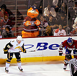 31 March 2007: The former Montreal Expos and now Montreal Canadiens mascot Youppi watches an upcoming faceoff between the Canadiens and the Buffalo Sabres at the Bell Centre in Montreal, Canada...Mandatory Photo Credit: Ed Wolfstein Photo *** Editorial Sales through Icon Sports Media *** www.iconsportsmedia.com