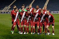 Chester, PA - Friday December 08, 2017: Indiana University Starting Eleven The Indiana Hoosiers defeated the North Carolina Tar Heels 1-0 during an NCAA Men's College Cup semifinal soccer match at Talen Energy Stadium.