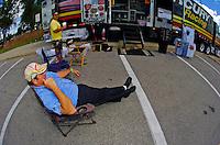 Bill Chatfield takes a load off.