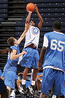 WF DeQuan Jones (Marietta, GA / Wheeler) shoots the ball during the NBA Top 100 Camp held Thursday June 21, 2007 at the John Paul Jones arena in Charlottesville, Va. (Photo/Andrew Shurtleff)