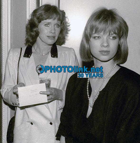Liv Ullman and daughter Linn Ullmann <br /> Circa 1980's<br /> Photo By Jesse Nash/PHOTOlink