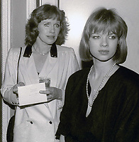 Liv Ullman and daughter Linn Ullmann <br /> Circa 1980's<br /> Photo By Jesse Nash/PHOTOlink