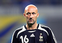 France goalkeeper Fabien Barthez (16). The Korea Republic and France played to a 1-1 tie in their FIFA World Cup Group G match at the Zentralstadion, Leipzig, Germany, June 18, 2006.