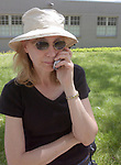 Newsday Photographer, Karen Wiles-Stabile, outside Family Court in Westbury on Tuesday May 31, 2005, covering the arraignment of a 12 year old girl accused of killing her mother.  (Newsday Photo / Jim Peppler).