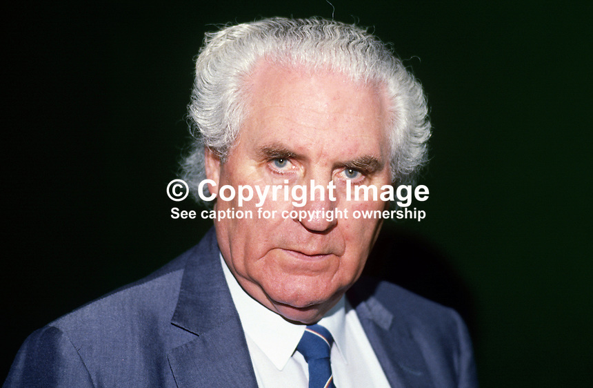 John Wilson, TD, Fianna Fail, Minister for Tourism, Rep of Ireland, 19880205JW.<br />