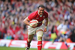 Jamie Roberts.2012 RBS 6 Nations.Wales v Italy.Millennium Stadium..10.03.12.Credit: STEVE POPE-Sportingwales
