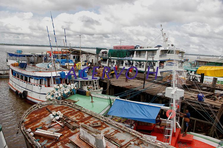 Belém, Pará, Brasil. CIDADE. As margens da Bahia do Guajára.  Porto do Sal na Cidade Velha. 29/01/2019. Foto Ney Marcondes.