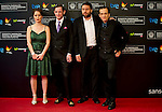 The actors Martin Dubreuil, Hadas Yaron, Luzer Twersky and the director Maxime Giroux presented at the Film Festival San Sebastian his film Felix and Meira. 2014/09/24. Samuel de Roman / Photocall3000