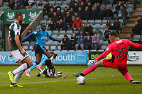 Fleetwood Town's  Amari'i Bell scores his side's second goal <br /> <br /> Photographer Andrew Kearns/CameraSport<br /> <br /> The EFL Sky Bet League One - Plymouth Argyle v Fleetwood Town - Saturday 7th October 2017 - Home Park - Plymouth<br /> <br /> World Copyright &copy; 2017 CameraSport. All rights reserved. 43 Linden Ave. Countesthorpe. Leicester. England. LE8 5PG - Tel: +44 (0) 116 277 4147 - admin@camerasport.com - www.camerasport.com