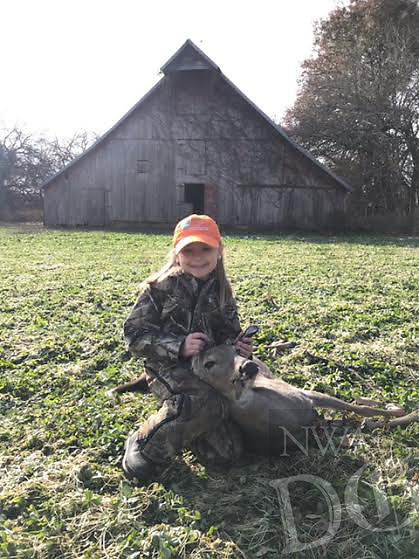 Courtesy photo<br />FIRST DEER<br />Maci Stubbs, 7, got her first deer Nov. 17 at the family's farm near Lamar, Mo. Maci is the daughter of Scott and Jenna Stubbs of Cave Springs.