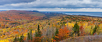 A panorama of the forests of the Keewenaw Peninsula that borders Lake Superior,  Upper Michigan.