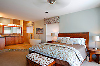 May 1, 2014_San Diego_ California_USA_|  The master bedroom and bathroom features an oval, freestanding tub.  | The Cardiff home of former MLB player Rick Sutcliffe and wife Robin, _Mandatory Photo Credit: Photo by K.C. Alfred/UT San Diego/Copyright 2014 . . . .