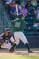 Tyler Horan (39) of the Augusta GreenJackets at bat against the Hickory Crawdads at L.P. Frans Stadium on May 11, 2014 in Hickory, North Carolina.  The GreenJackets defeated the Crawdads 9-4.  (Brian Westerholt/Four Seam Images)